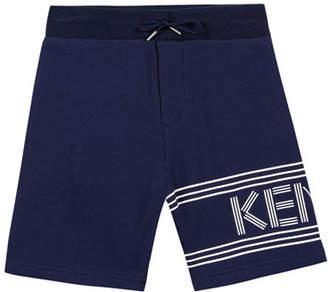 Kenzo Fleece Logo Bermuda Shorts, Size 2-4