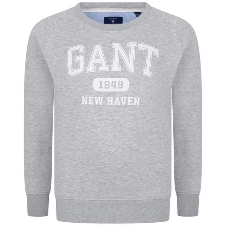 GantBoys Grey Logo Sweatshirt