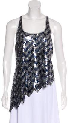 Jay Godfrey Sequined Sleeveless Top