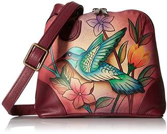 Anuschka Anna by Women's Genuine Leather Small Zip-Around Handbag | Multi Compartment Organizer |Birds in Paradise