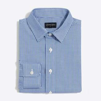 J.Crew Factory Boys' long-sleeve flex Thompson patterned shirt