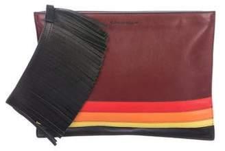 Elena Ghisellini Leather Zip Clutch