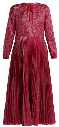 RED Valentino Floral Jacquard Metallic Midi Dress - Womens - Pink