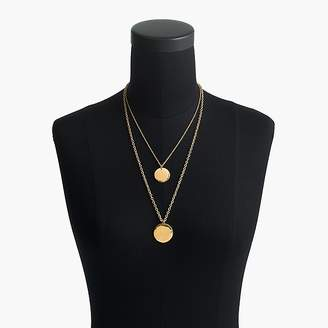 J.Crew Layered coin necklace