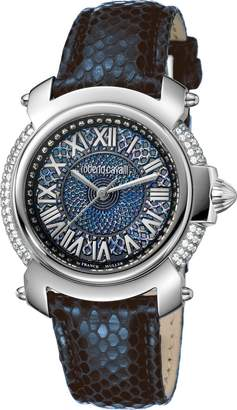 Roberto Cavalli Women's RV1L006L0016 /Purple Dial Leather Watch