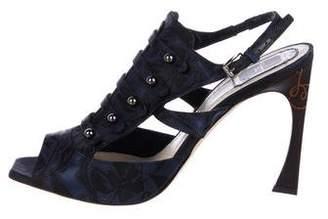 Christian Dior Brocade Slingback Sandals