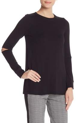 Rachel Roy Imogen Fleece Elbow Cutout Top