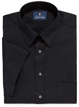 STAFFORD Stafford Travel Easy Care Stretch Broadcloth Short Sleeve Dress Shirt - Big and Tall