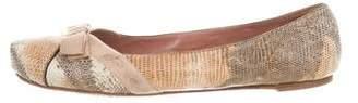 Alaia Lizard Ballet Flats