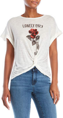 Lucky Brand Lonely Only Rose Burnout Tee