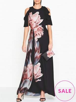 Ted Baker Ulrika Tranquility Print Cold Shoulder Maxi Dress