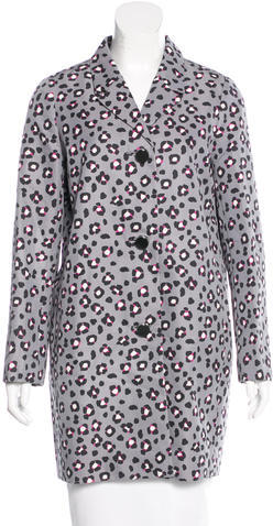 Kate Spade Kate Spade New York Printed Knee-Length Coat w/ Tags