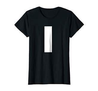 Womens Letter L lower case alphabet spell words Initial tee shirt Small