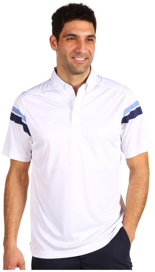 Callaway Button Down Collar Polo (Bright White) - Apparel