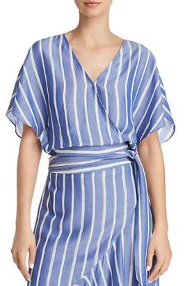 Lucy Paris Sophie Striped Cropped Wrap Top - 100% Exclusive