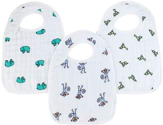 Aden Anais Aden + Anais aden + anais Classic Snap Bibs, Jungle Jam (Set of 3)