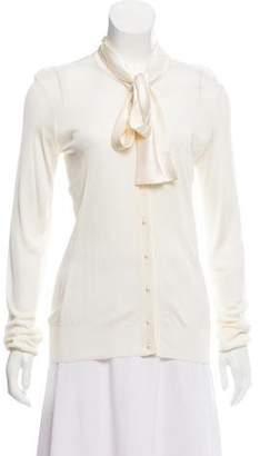 Dolce & Gabbana Tie Neck Cardigan w/ Tags