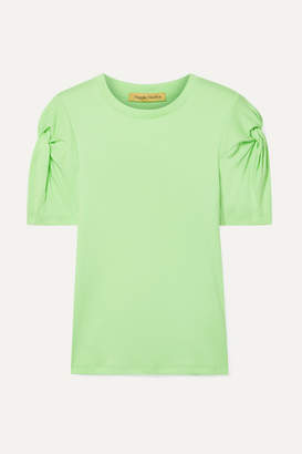 Maggie Marilyn + Net Sustain Knot On Organic Cotton T-shirt - Lime green