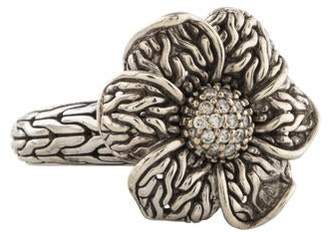 John Hardy Diamond Floral Ring