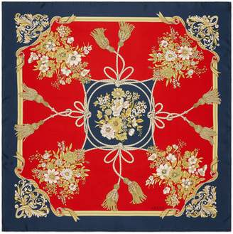 Gucci Lady Intrigue Square Silk Scarf