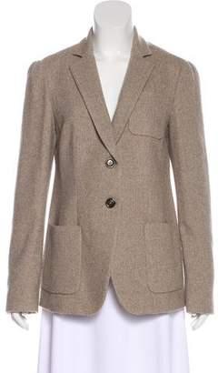 Armani Collezioni Herringbone Wool Blazer