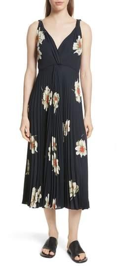 Gardenia Floral Midi Dress