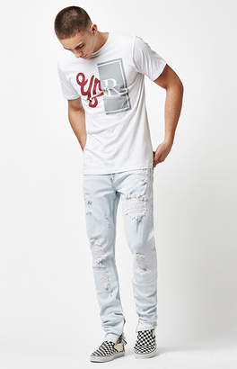 Young & Reckless Walker Bleach Destroyed Tapered Jeans