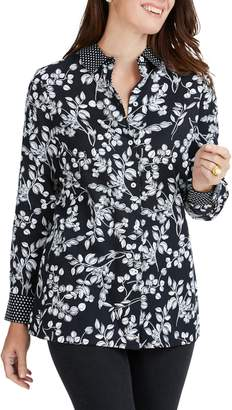 Foxcroft Libby Whimsy Floral Print Top