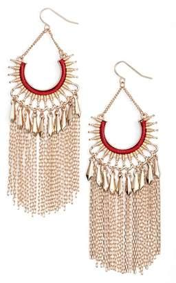 Adia Kibur Chain Fringe Earrings