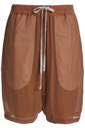 Rick Owens Silk-Crepe Shorts