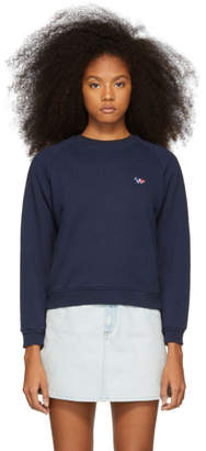MAISON KITSUNÉ Navy Tricolor Fox Patch Sweatshirt