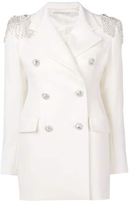 Alessandra Rich crystal embellished double breasted jacket