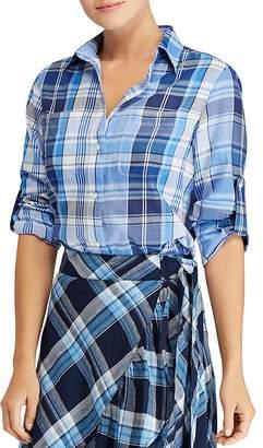 Lauren Ralph Lauren Plaid Cotton Twill Shirt