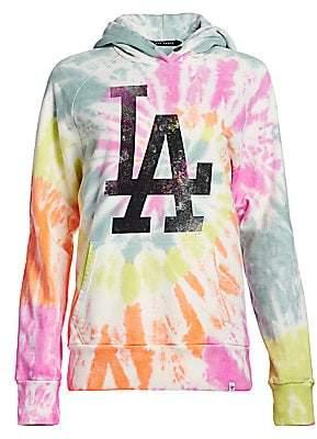47 Dye House Women's LA Dodgers Tie Dye Hoodie