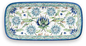 One Kings Lane Sikandra Floral Melamine Serving Tray - Blue