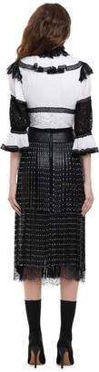 Alice + Olivia RUTH PLEATED BUTTON DOWN BLOUSE