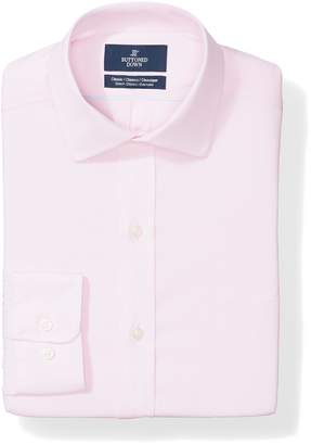 Buttoned Down Men's Classic Fit Stretch Poplin Non-Iron Dress Shirt