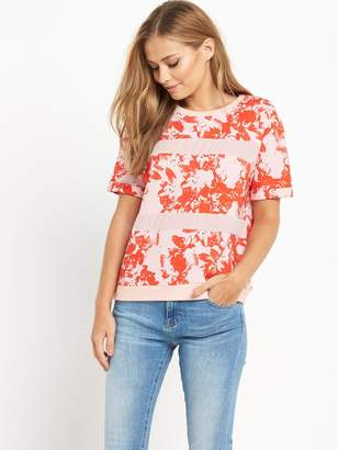 BOSS ORANGE Tabloom Top - Red Overflow