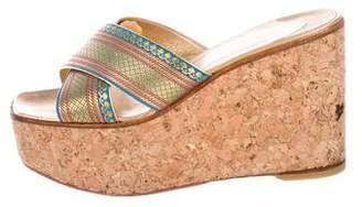 Christian Louboutin Cork Slide Sandals
