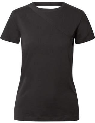 Helmut Lang Open-back Stretch-cotton Jersey T-shirt - Black