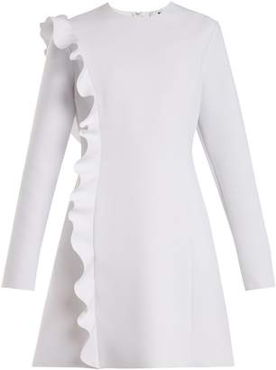 MSGM Asymmetric-ruffle crepe dress