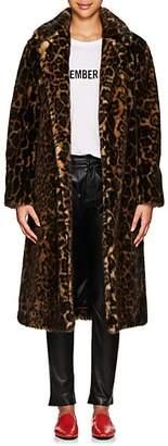 Nili Lotan Women's Marvin Leopard-Print Faux-Fur Long Coat - Leopard