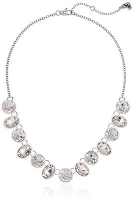 Betsey Johnson Women's Blue La La Faceted Stone Frontal Necklace