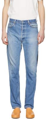 B Sides Indigo Reverse Patchwork Jeans