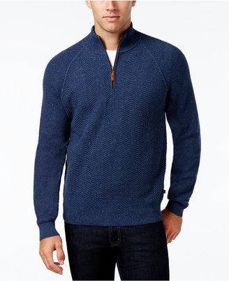 Tommy Bahama Men's Chevron Tweed Quarter-Zip Sweater $158 thestylecure.com