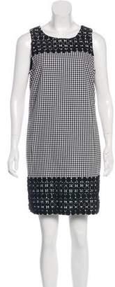 Michael Kors Plaid Lace-Trimmed Mini Dress w/ Tags