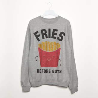 Batch1 Fries Before Guys Women's Slogan Sweatshirt
