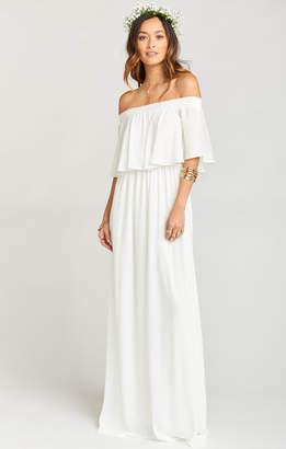 Show Me Your Mumu Hacienda Maxi Dress ~ Ivory Crisp