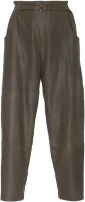 Philosophy di Lorenzo Serafini Belted Leather Trouser