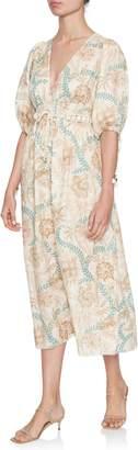 Zimmermann Veneto Shirred-Waiste Dress